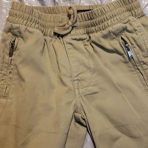 Polo boys khaki lightweight cotton joggers sz 4T